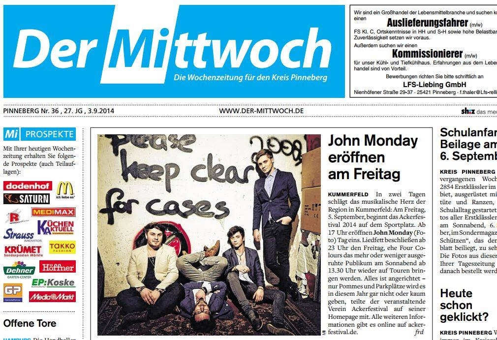 John Monday article Ackerfestival 2014