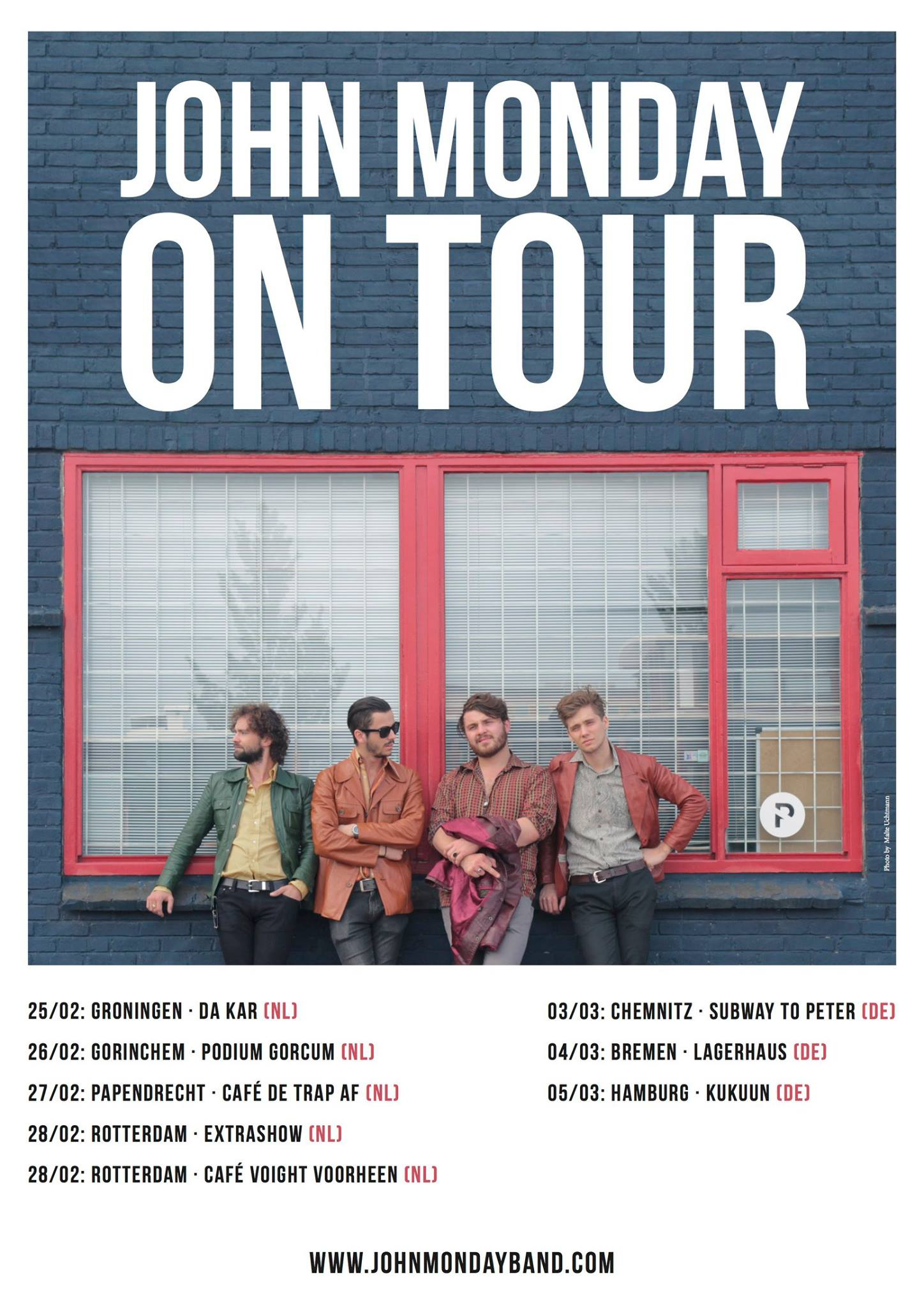 John Monday Tour FEB/MAR 2016  Germany & Netherlands